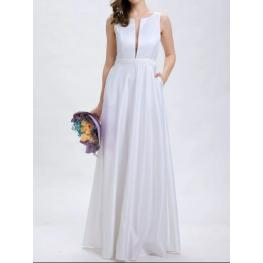 Vestido Largo Berta Blanco