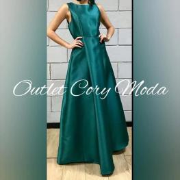 Vestido de Fiesta Campana Color Verde Botella