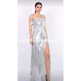 Vestido de Fiesta Cristal Color Plata