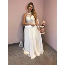Vestido de Fiesta Daniela Color Blanco