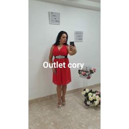Vestido Corto Donna Rojo