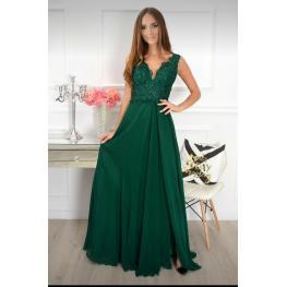 Vestido Largo Gabriela Color Verde Botella