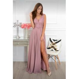 Vestido Largo Gabriela Color Rosa Empolvado