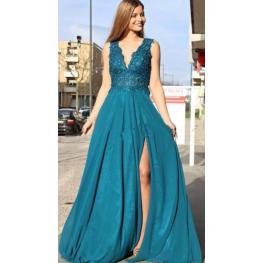 Vestido Gabriela Color Turquesa