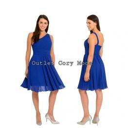Vestido Corto Griego Color Azul Electrico