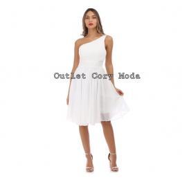 Vestido Corto Griego Color Blanco