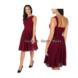 Vestido Corto Griego Color Granate