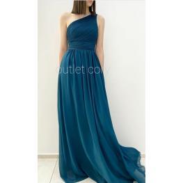 Vestido Largo Griego Color Petroleo