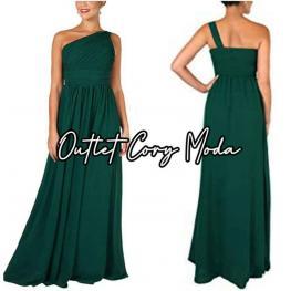 Vestido  Griego Verde Botella