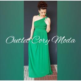 Vestido Largo Griego Color Verde Hierba