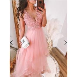 Vestido Lanzarote Color Rosa Empolvado