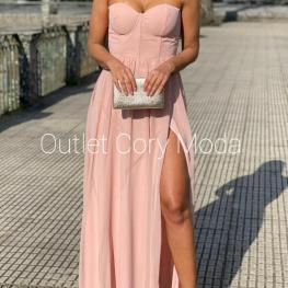 Vestido Lisboa Color Rosa Empolvado