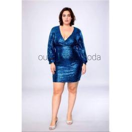 Vestido de Fiesta Corto Melissa Color Azul