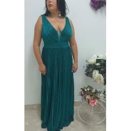 Vestido de Fiesta Largo  Nieves Color  Verde