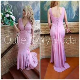 Vestido de Fiesta  Queen Color Rosa