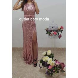 Vestido de  Fiesta Raquel Color Rosa