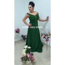 Vestido de Fiesta  Romantico Color Verde