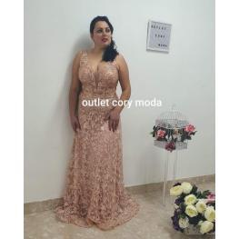 Vestido de Fiesta Largo Rosalinda Color Rosa