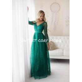 Vestido de Fiesta Largo Silvina Color Verde