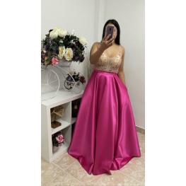 Vestido de Fiesta Susana Color Fucsia