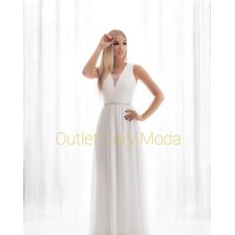 Vestido de Novia Largo Tela Aviv , Color Blanco