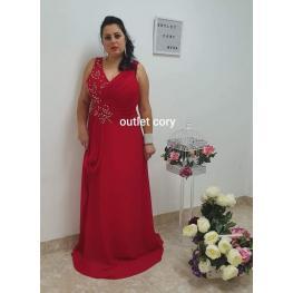 Vestido de Fiesta Largo Turin Color Rojo