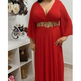 Vestido de Fiesta Largo Venecia Color Rojo