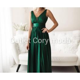 Vestido de Fiesta Largo Victoria Color Verde Botella