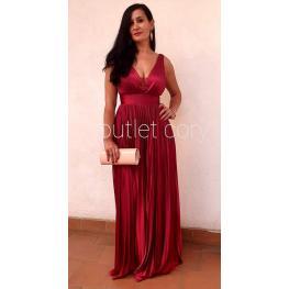 Vestido de Fiesta Largo Victoria Color Granate