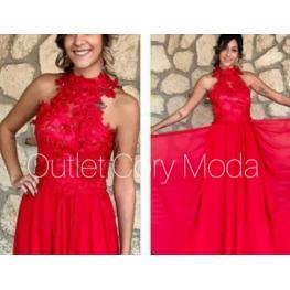 Vestido Largo Virginia Color Rojo