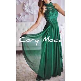 Vestido Largo Virginia Color Verde Hierba