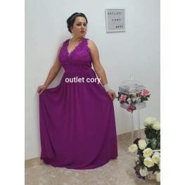 Vestido Arabia Sin  Perlas Color Buganvilla