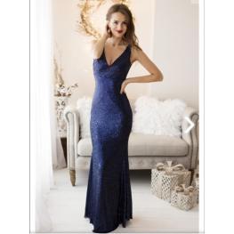 Vestido Ariel Azul Marino