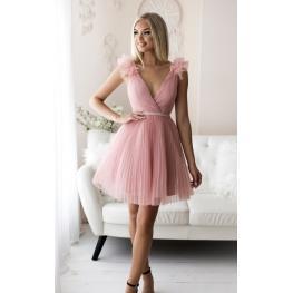 Vestido Corto Aurora Color Rosa Palo