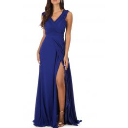 Vestido Brenda Color Azul Electrico