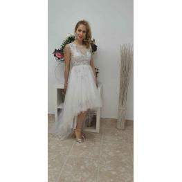 Vestido Chic Asimetrico Blanco