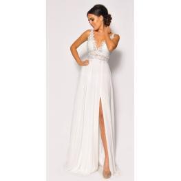 Vestido de Fiesta Fani Color Blanco