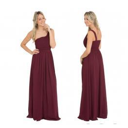 Vestido Largo Griego Color Granate