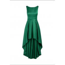 Vestido Asimetrico Marsella Color Verde Botella