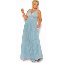 Vestido de Fiesta Largo  Nieves Color  Celeste