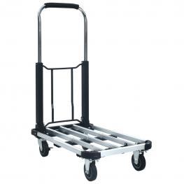 Carrito de Transporte Plegable de Aluminio Plateado 150 Kg