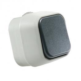Interruptor Simple de Superficie Ip54 Gris