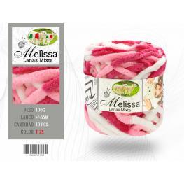 Lana F-Color-25 Color Mixto Rosa, Blanco