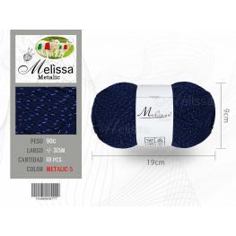 Lana Metalic 05 Color Azul Marino