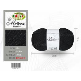 Lana Metalic 06 Color Negro