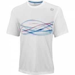 Camiseta Wilson Soundwave Print Crew