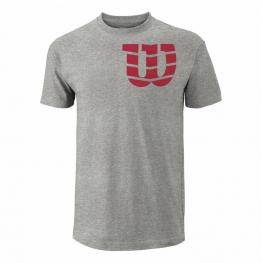 Camiseta Wilson Shoulder W Cotton Gris