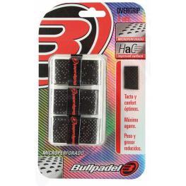 Blister 3 Overgrips Bullpadel Negro Microperforado