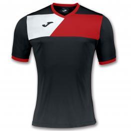 Camiseta Joma Crew II Negro Rojo
