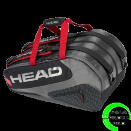Paletero Head Elite Padel Supercombi Negro Rojo